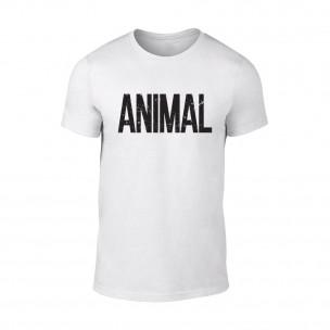 Κοντομάνικη μπλούζα Animal λευκό