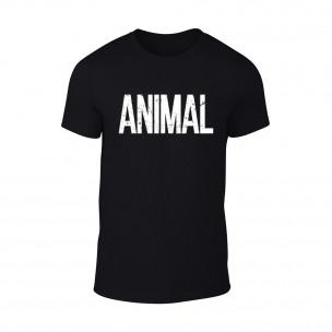 Κοντομάνικη μπλούζα Animal μαύρο