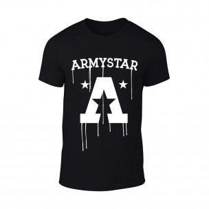 Κοντομάνικη μπλούζα Armystar μαύρο