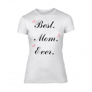 Γυναικεία Μπλούζα Best Mom Ever λευκό