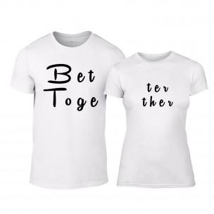 Μπλουζες για ζευγάρια Better Together λευκό