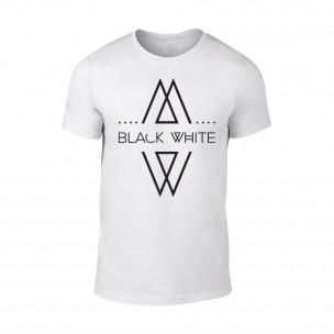 Κοντομάνικη μπλούζα Black White λευκό