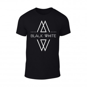 Κοντομάνικη μπλούζα Black White μαύρο