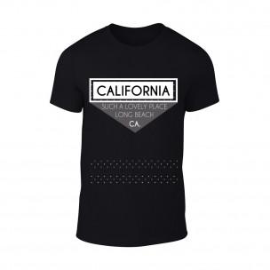 Κοντομάνικη μπλούζα California μαύρο