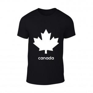Κοντομάνικη μπλούζα Canada μαύρο