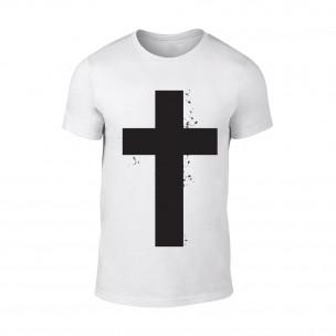 Κοντομάνικη μπλούζα Cross λευκό Χρώμα Μέγεθος XL
