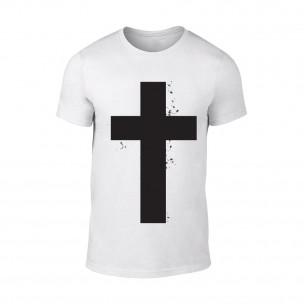 Κοντομάνικη μπλούζα Cross λευκό