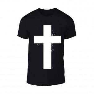 Κοντομάνικη μπλούζα Cross μαύρο