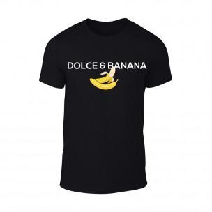 Κοντομάνικη μπλούζα Dolce & Banana μαύρο