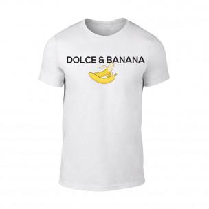 Κοντομάνικη μπλούζα Dolce & Banana λευκό
