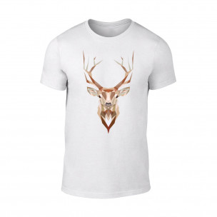 Κοντομάνικη μπλούζα Deer λευκό TEEMAN