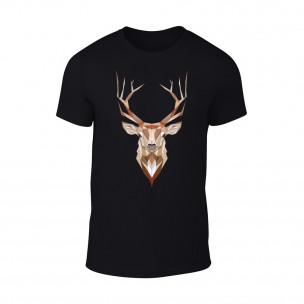 Κοντομάνικη μπλούζα Deer μαύρο