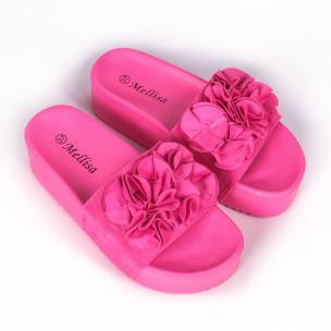 Γυναικείες ροζ πλατφόρμες Mellisa  2