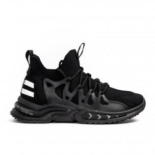 Ανδρικά μαύρα αθλητικά παπούτσια Sport