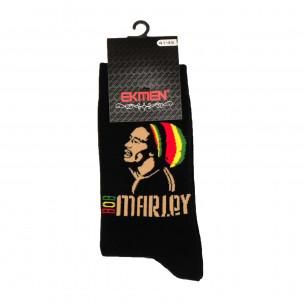 Ανδρικές κάλτσες με μοτίβο Bob Marley 1 ζευγάρι