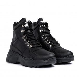 Ανδρικά μαύρα sneakers Trekking design Wagoon 2