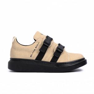 Ανδρικά μπεζ sneakers Black Bull