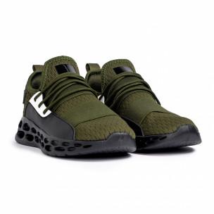 Ανδρικά πράσινα αθλητικά παπούτσια κάλτσα με λάστιχο 2