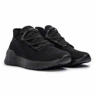 Ανδρικά μαύρα sneakers κάλτσα Lace detail 2