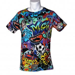 Ανδρική πολύχρωμη κοντομάνικη μπλούζα Made in Italy 2