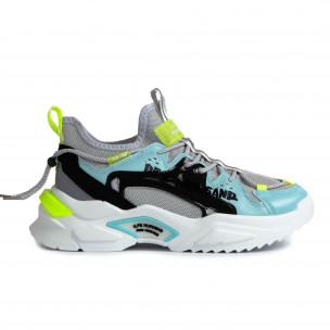 Chunky ανδρικά γκρι sneakers Fashion