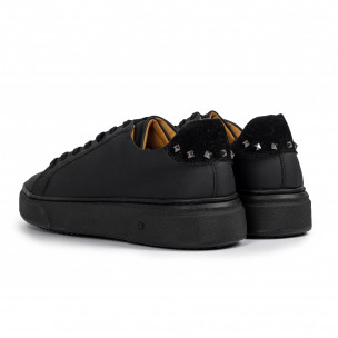 Ανδρικά μαύρα sneakers All black 2