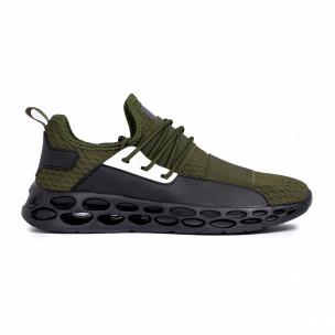 Ανδρικά πράσινα αθλητικά παπούτσια κάλτσα με λάστιχο