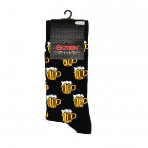 Ανδρικές κάλτσες με μοτίβο Beer 1 ζευγάρι