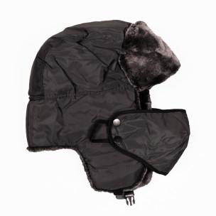 Ανδρικό γκρι καπέλα  με μάσκα 2