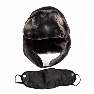 Ανδρικό γκρι καπέλα  με μάσκα
