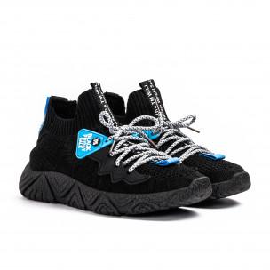 Ανδρικά μαύρα αθλητικά παπούτσια Fashion 2