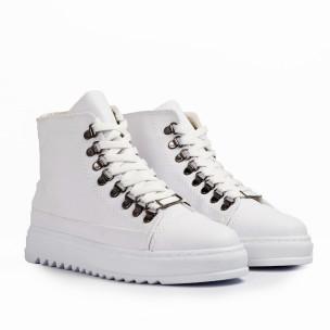 Ανδρικά λευκά sneakers Trekking design  2