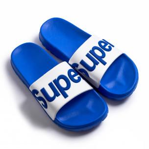 Ανδρικές γαλάζιες σαγιονάρες Super