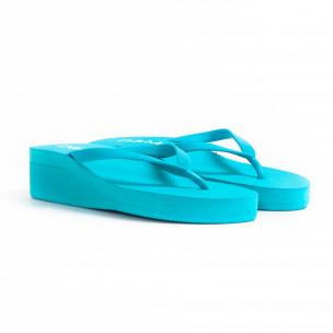 Γυναικείες γαλάζιες παντόφλες D&M 2