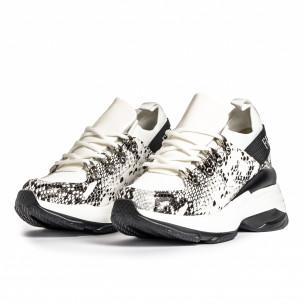 Γυναικεία λευκά αθλητικά παπούτσια Snake 2