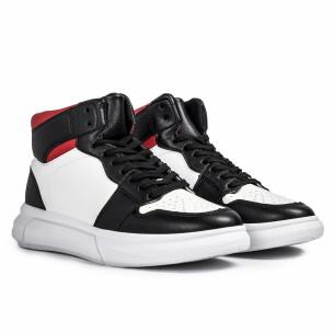 Ανδρικά sneakers σε λευκό και μαύρο FM 2