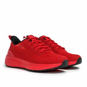 Ανδρικά κόκκινα sneakers σε υφή 2