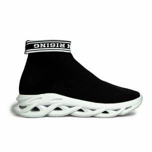 Ανδρικά μαύρα αθλητικά παπούτσια Rogue τύπου κάλτσα 2