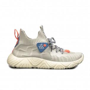 Ανδρικά μπεζ αθλητικά παπούτσια Fashion