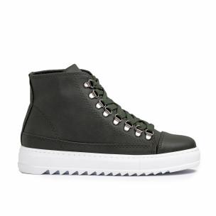 Ανδρικά πράσινα sneakers Trekking design