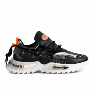 Chunky ανδρικά μαύρα sneakers