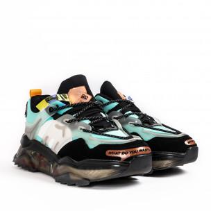 Ανδρικά γαλάζια sneakers με λεπτομέρειες σιλικόνης Sport 2
