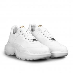 Ανδρικά λευκά sneakers Chunky All white Knack 2