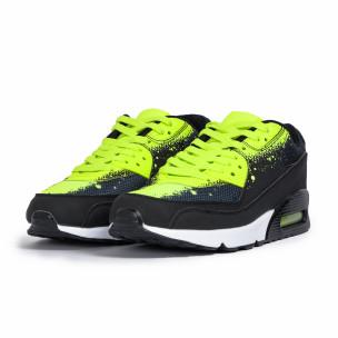 Ανδρικά μαύρα αθλητικά παπούτσια Splash neon 2