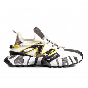 Slip-on ανδρικά λευκά sneakers
