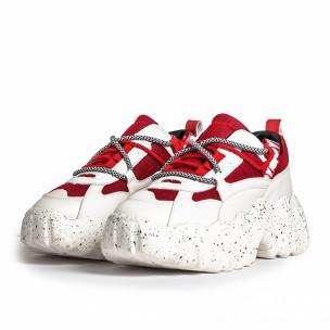 Sneakers Ultra Sole σε λευκό και κόκκινο Sergio Todzi 2