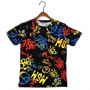 Ανδρική πολύχρωμη κοντομάνικη μπλούζα Made in Italy