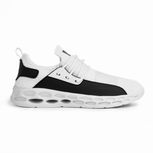 Ανδρικά λευκά αθλητικά παπούτσια κάλτσα με λάστιχο 2