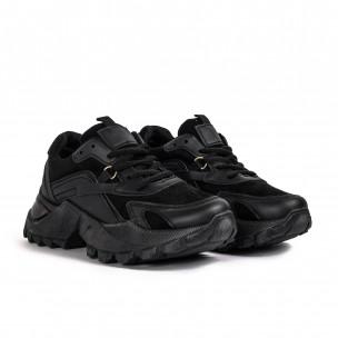 Γυναικεία μαύρα sneakers Chunky Fashion&Bella 2