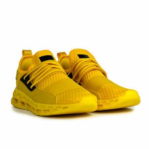 Ανδρικά κίτρινα αθλητικά παπούτσια κάλτσα με λάστιχο 2